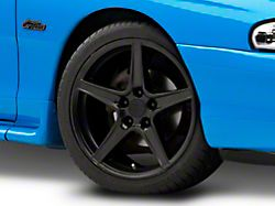 Saleen Style Matte Black Wheel; 18x9 (94-98 All)