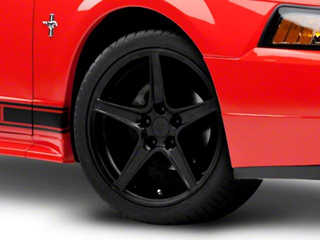 Saleen Style Matte Black Wheel; 18x9 (99-04 All)