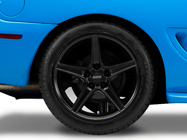 Saleen Style Matte Black Wheel - 18x10 - Rear Only (94-04 All)