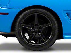 Saleen Style Matte Black Wheel; Rear Only; 18x10 (94-98 All)