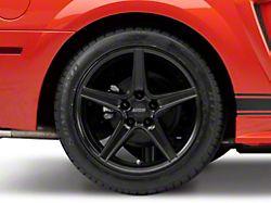 Saleen Style Matte Black Wheel; Rear Only; 18x10 (99-04 All)