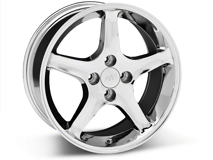 1995 Cobra R Style Chrome Wheel - 17x8 (87-93; Excludes 93 Cobra)