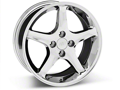 1995 Cobra R Style Chrome Wheel - 17x8 (87-93 All, Excluding 1993 Cobra)