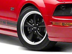 Bullitt Matte Black Wheel; 18x8 (05-09 GT, V6)