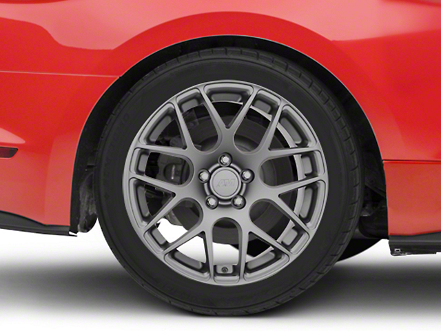 AMR Charcoal Wheel; Rear Only; 18x10 (15-20 EcoBoost, V6)