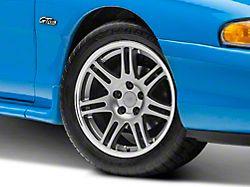 10th Anniversary Cobra Style Anthracite Wheel; 17x9 (94-98 All)