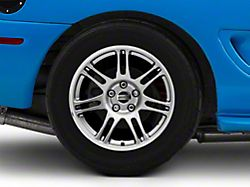 10th Anniversary Cobra Style Anthracite Wheel; Rear Only; 17x10.5 (94-98 All)