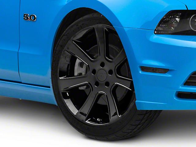 S197 Saleen Style Black Wheel; 20x9 (10-14 All)