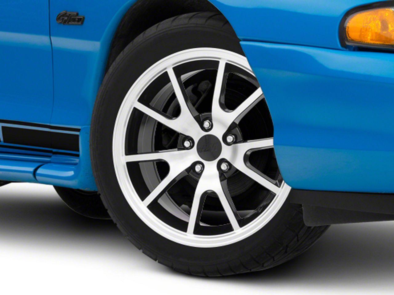 Add FR500 Style Black Machined Wheel - 17x9 (94-04 All)