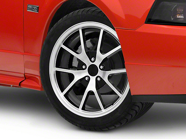 FR500 Style Black Machined Wheel; 18x9 (99-04 All)