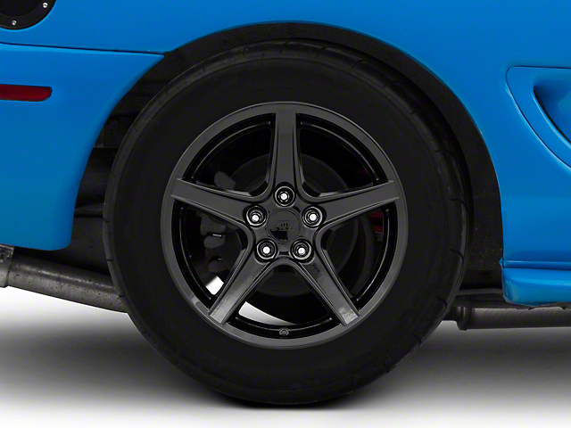 Saleen Style Black Wheel; Rear Only; 17x10.5 (94-98 All)