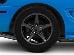 Saleen Style Gloss Black Wheel; Rear Only; 17x10.5 (99-04 All)