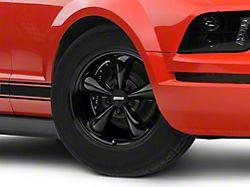 Bullitt Solid Black Wheel; 17x9 (05-09 GT, V6)