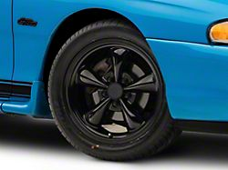 Bullitt Solid Black Wheel; 17x8 (94-98 All)