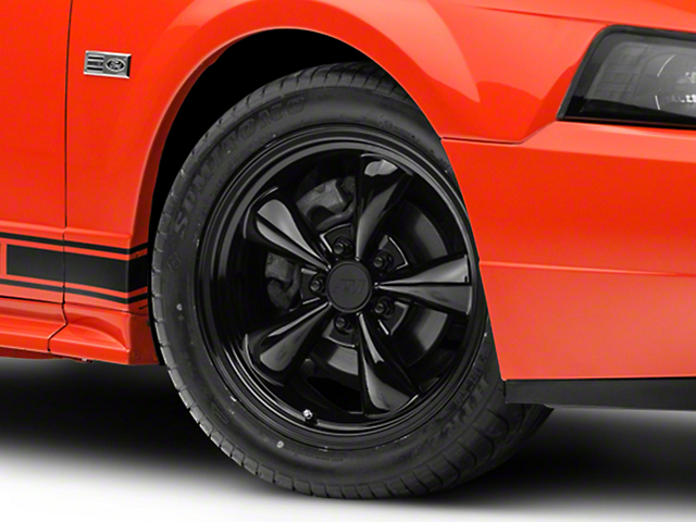 Bullitt Solid Black Wheel; 17x8 (99-04 All)