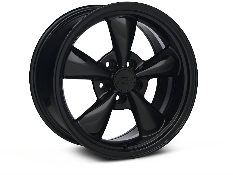Bullitt Solid Black Wheel - 17x9 (87-93 w/ 5 Lug Conversion)