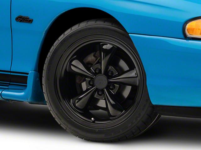 Bullitt Solid Black Wheel; 17x9 (94-98 All)