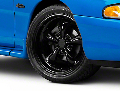 Deep Dish Bullitt Solid Gloss Black Wheel - 18x9 (94-04 All)