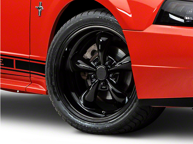 Deep Dish Bullitt Solid Black Wheel; 18x9 (99-04 All)