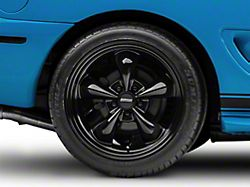 Deep Dish Bullitt Solid Black Wheel; Rear Only; 18x10 (94-98 All)