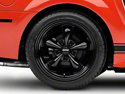 Deep Dish Bullitt Solid Black Wheel; Rear Only; 18x10 (99-04 All)