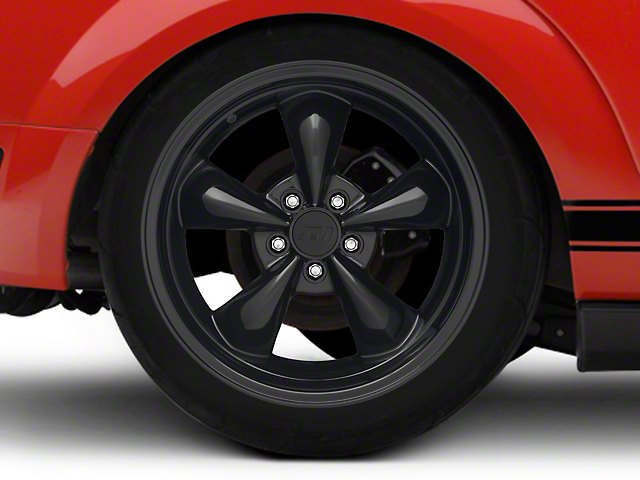 Deep Dish Bullitt Solid Black Wheel - 18x10 - Rear Only (05-09 GT, V6)