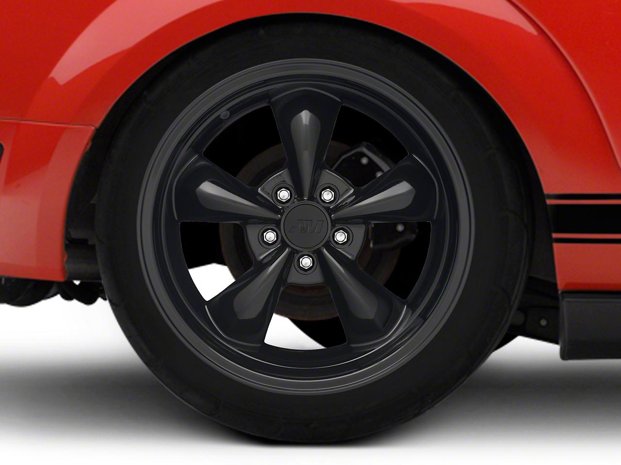 Deep Dish Bullitt Solid Black Wheel - 18x10 (05-14 Standard GT, V6)