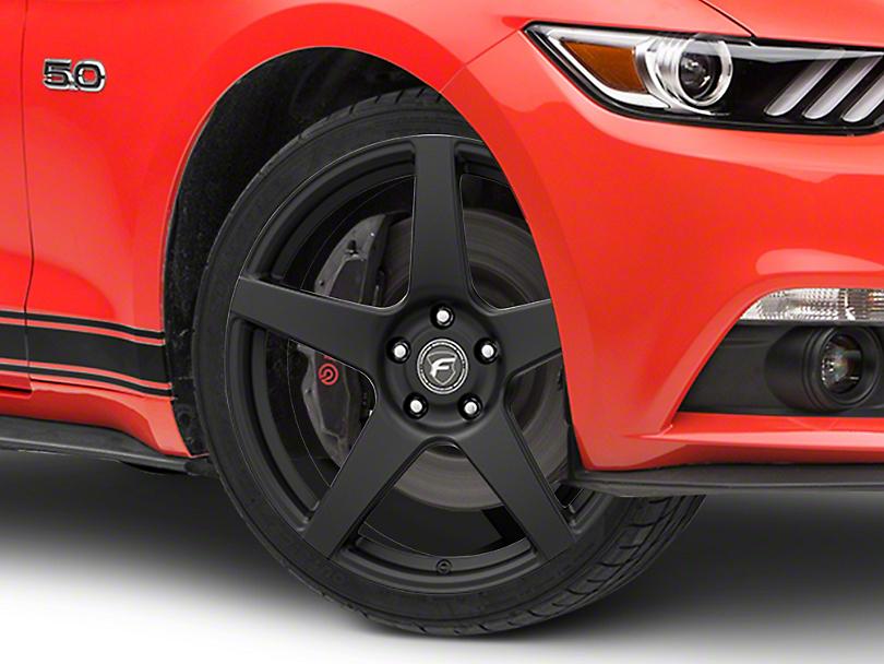 Forgestar CF5 Monoblock Matte Black Wheel - 19x9 (15-19 GT, EcoBoost, V6)
