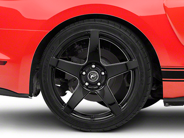 Forgestar CF5 Monoblock Piano Black Wheel - 19x10 - Rear Only (15-19 GT, EcoBoost, V6)