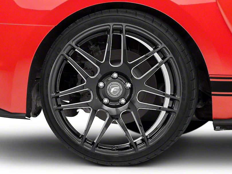 Forgestar F14 Monoblock Piano Black Wheel - 19x10 - Rear Only (15-19 GT, EcoBoost, V6)