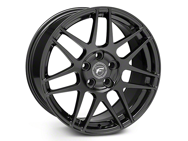Forgestar F14 Monoblock Piano Black Wheel - 18x10 - Rear Only (15-19 EcoBoost, V6)