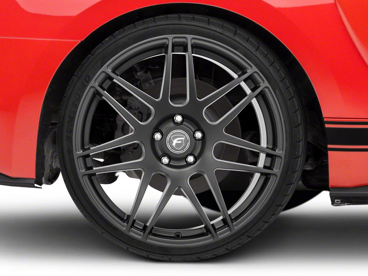 Forgestar F14 Monoblock Deep Concave Monoblock Matte Black Wheel - 20x11 - Rear Only (15-19 GT, EcoBoost, V6)