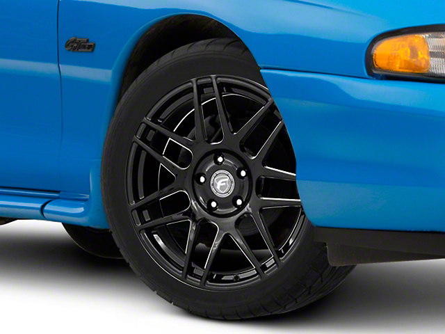 Forgestar F14 Monoblock Piano Black Wheel; 18x9 (94-98 All)