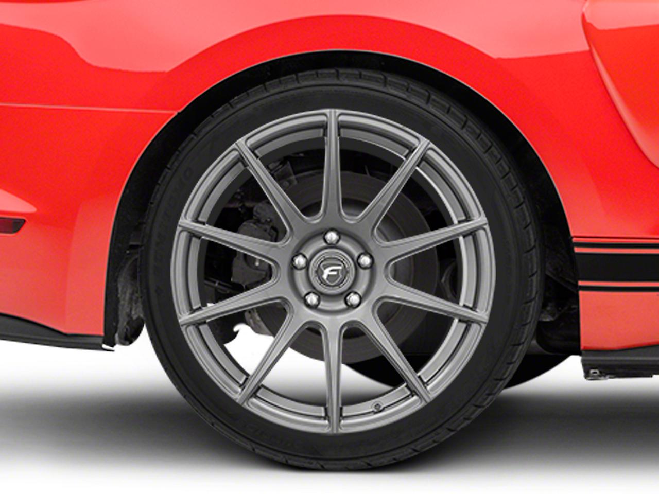 Forgestar CF10 Monoblock Gunmetal Wheel - 19x10 (15-18 GT, EcoBoost, V6)