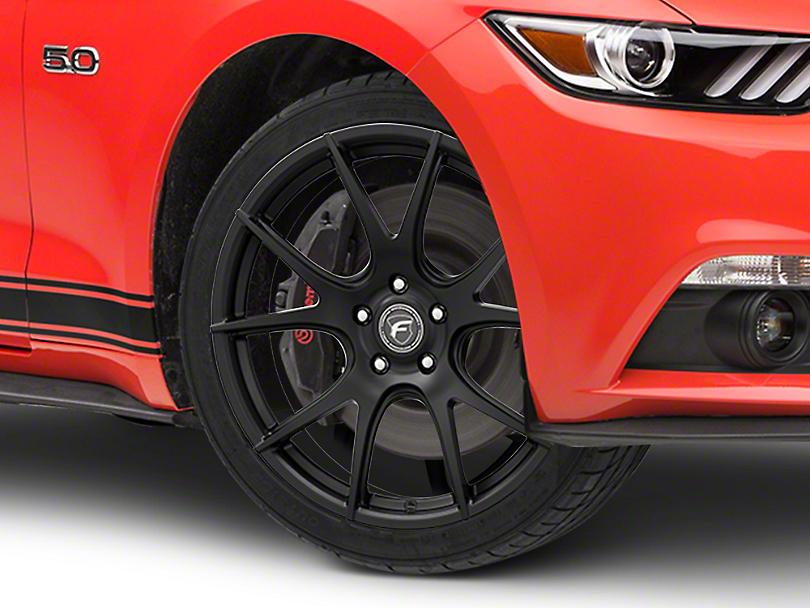 Forgestar CF5V Monoblock Matte Black Wheel - 19x9 (15-19 GT, EcoBoost, V6)