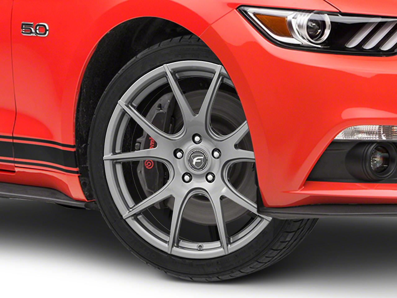Forgestar CF5V Monoblock Gunmetal Wheel - 19x9 (15-18 GT, EcoBoost, V6)