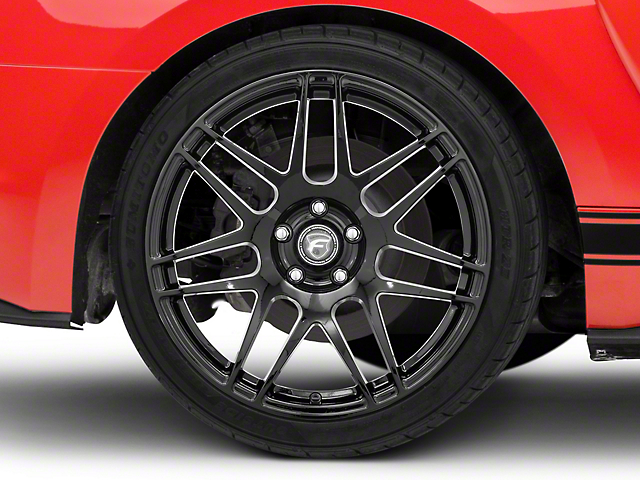 Forgestar F14 Monoblock Piano Black Wheel - 19x11 - Rear Only (15-19 GT, EcoBoost, V6)