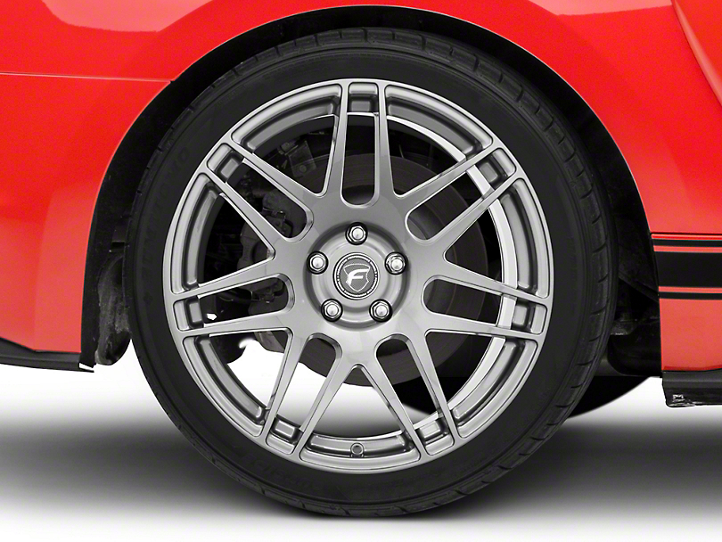 Forgestar F14 Monoblock Gunmetal Wheel - 19x11 - Rear Only (15-20 GT, EcoBoost, V6)