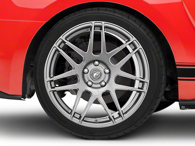 Forgestar F14 Monoblock Gunmetal Wheel; Rear Only; 19x11 (15-20 GT, GT350)