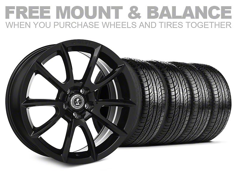 Shelby Super Snake Style Black Wheel & Pirelli Tire Kit - 19x8.5 (05-14 All)