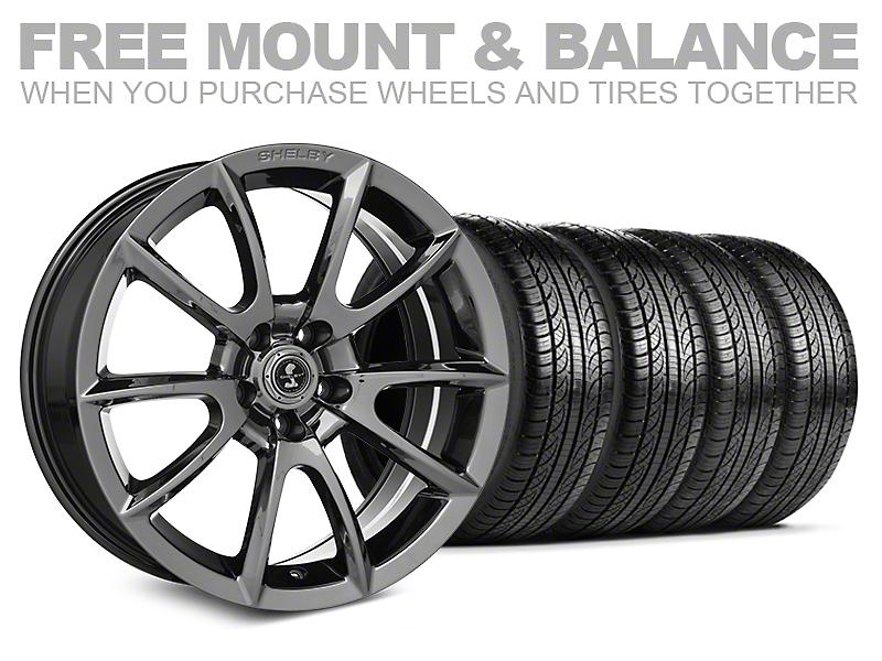Shelby Super Snake Style Chrome Wheel & Pirelli Tire Kit - 19x8.5 (05-14 All)