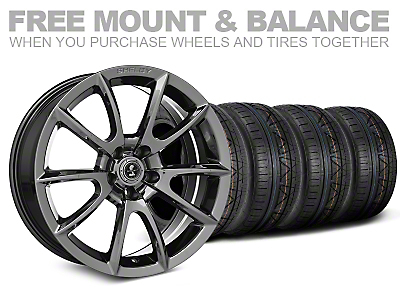 Shelby Super Snake Style Chrome Wheel & NITTO INVO Tire Kit - 19x8.5 (05-14 All)