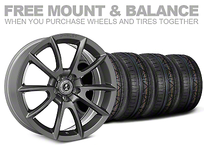 Shelby Super Snake Style Charcoal Wheel & NITTO INVO Tire Kit - 20x9 (05-14 All)