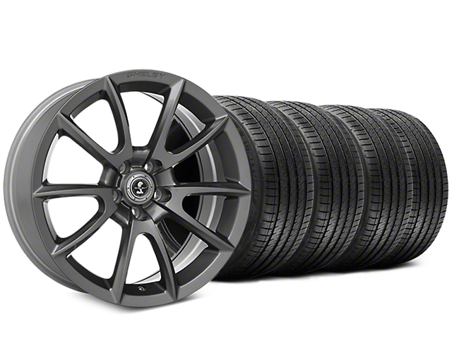 Shelby Super Snake Style Charcoal Wheel & Sumitomo Maximum Performance HTR Z5 Tire Kit - 20x9 (05-14 All)