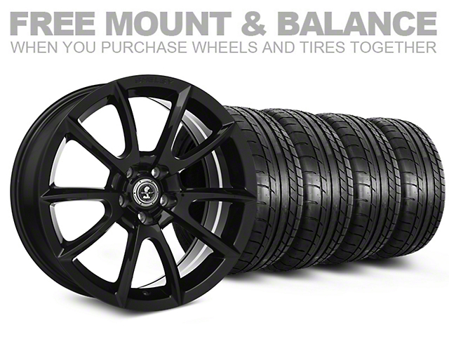 Shelby Super Snake Style Black Wheel and Mickey Thompson Tire Kit; 20x9 (05-14 All)