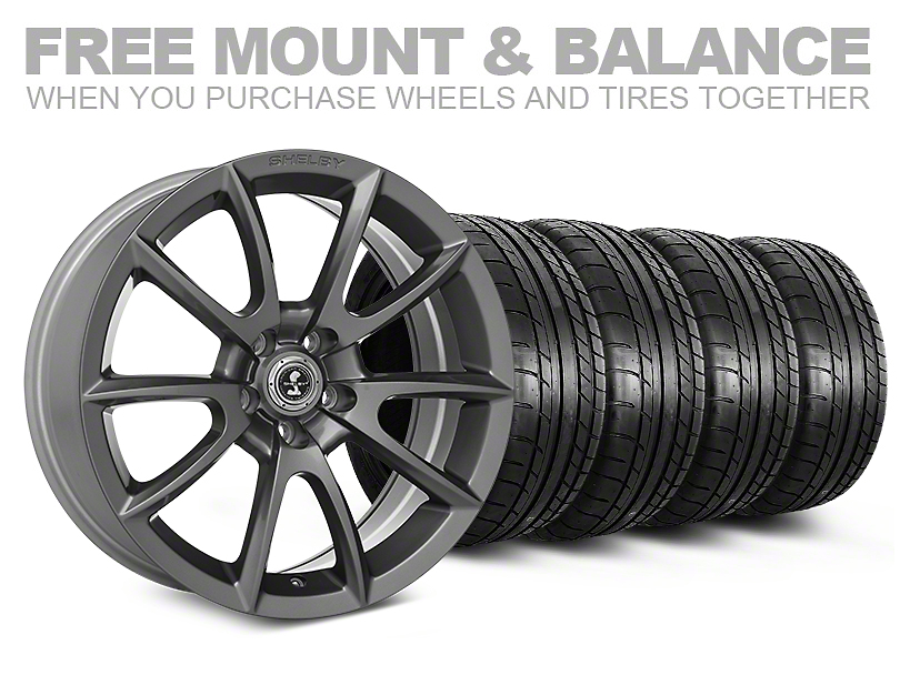 Shelby Super Snake Style Charcoal Wheel & Mickey Thompson Tire Kit - 20x9 (05-14 All)