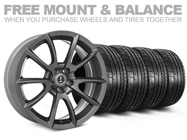 Shelby Super Snake Style Charcoal Wheel and Mickey Thompson Tire Kit; 20x9 (05-14 All)