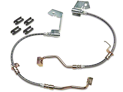 J&M Stainless Steel Teflon Brake Hoses - Front (05-14 All w/ABS, Excluding 13-14 GT500)