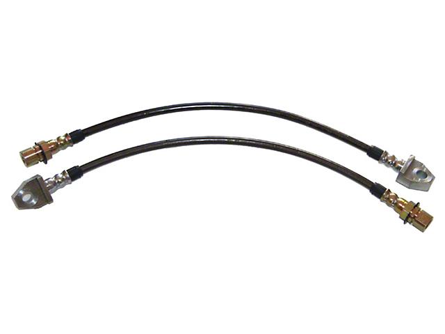 J&M Stainless Steel Teflon Brake Lines - Front (94-98 Cobra)