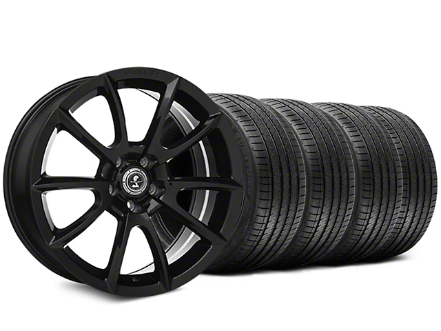 Staggered Super Snake Style Black Wheel and Sumitomo Maximum Performance HTR Z5 Tire Kit; 20x9/10 (05-14 All)